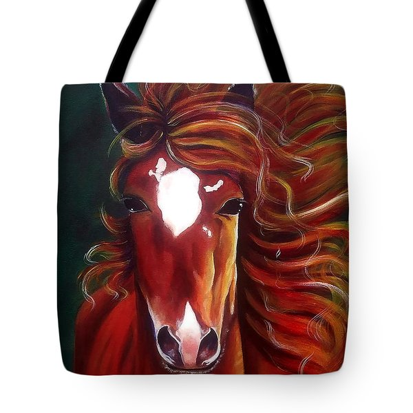 Tote Bag featuring the painting Testa Rosa  by Thomas Lupari