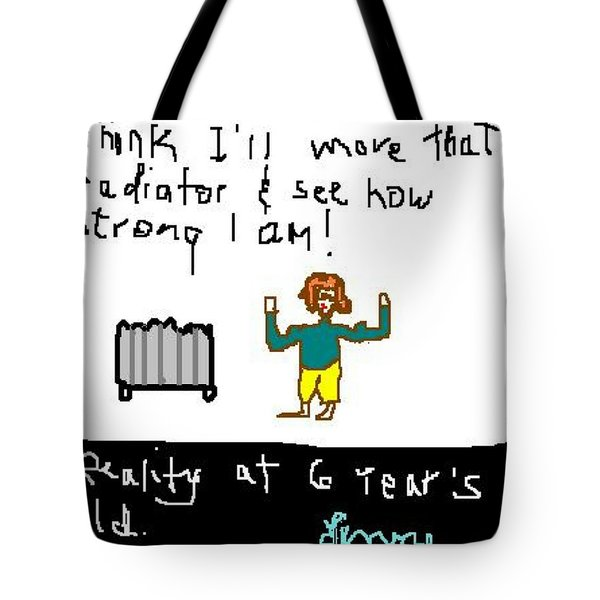Testing Reality At 6 - 1 Of 2 Tote Bag by Lenore Senior