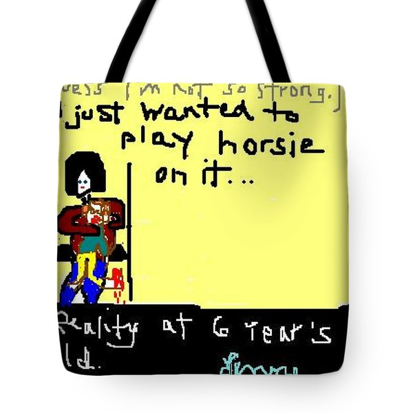 Testing Reality At 6 - 2 Of 2 Tote Bag by Lenore Senior