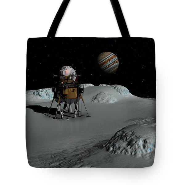 Tote Bag featuring the digital art Testing The Waters by David Robinson