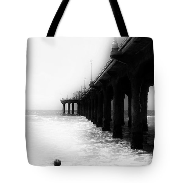 Tote Bag featuring the photograph Testing The Waters by Michael Hope