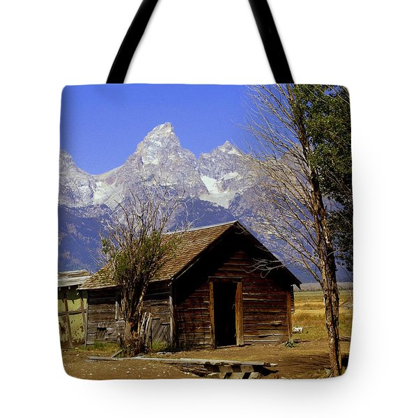 Teton Cabin Tote Bag by Marty Koch