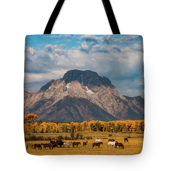 Teton Horse Ranch Tote Bag