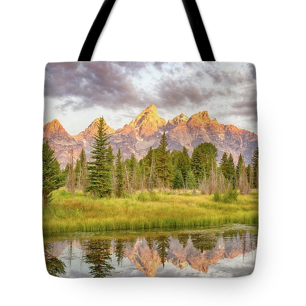 Tote Bag featuring the photograph Teton Morning by Mary Hone