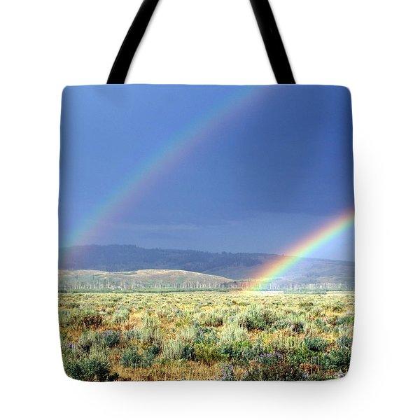 Teton Rainbow Tote Bag by Marty Koch