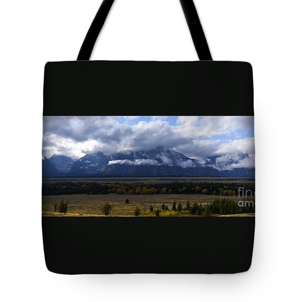 Teton Range # 1 Tote Bag by Sandy Molinaro