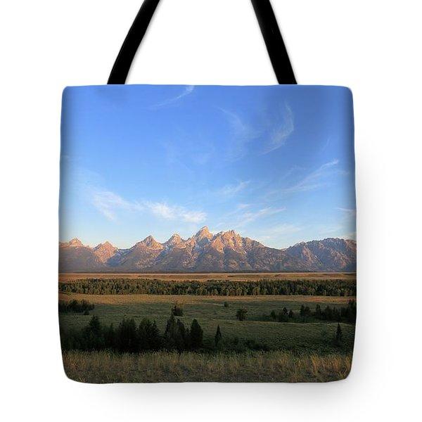 Teton Range After Sunrise Tote Bag