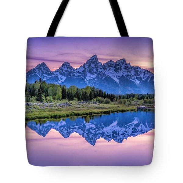 Sunset Teton Reflection Tote Bag
