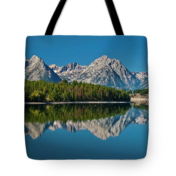 Tote Bag featuring the photograph Teton Reflections by Gary Lengyel