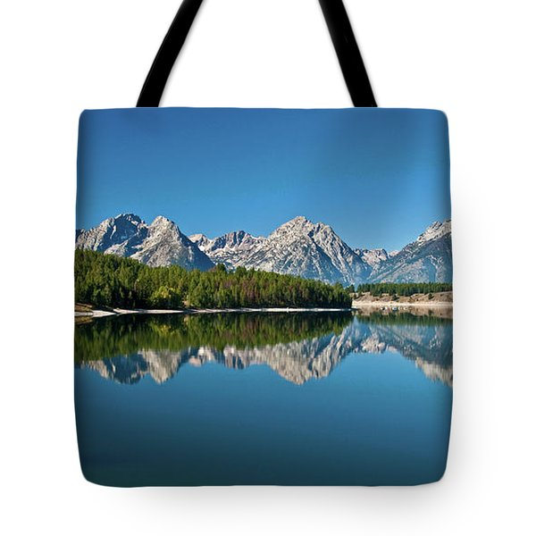 Tote Bag featuring the photograph Teton Reflections II by Gary Lengyel