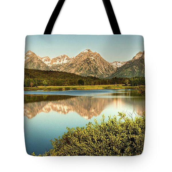 Tote Bag featuring the photograph Teton Reflections by Rebecca Hiatt