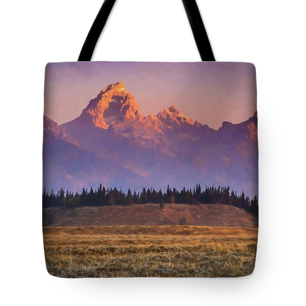 Teton Sunrise Tote Bag