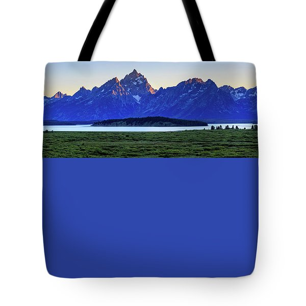 Tote Bag featuring the photograph Teton Sunset by David Chandler