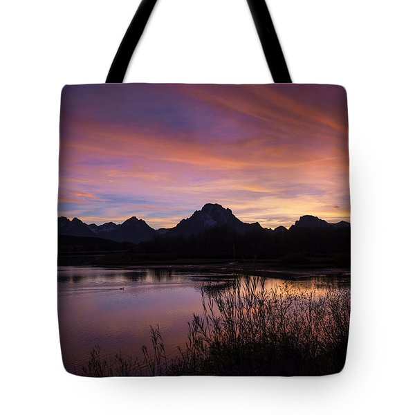 Tote Bag featuring the photograph Teton Sunset by Gary Lengyel