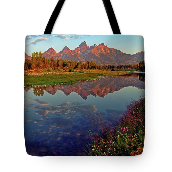 Teton Wildflowers Tote Bag by Scott Mahon