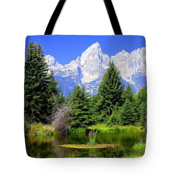 Tetons 3 Tote Bag by Marty Koch