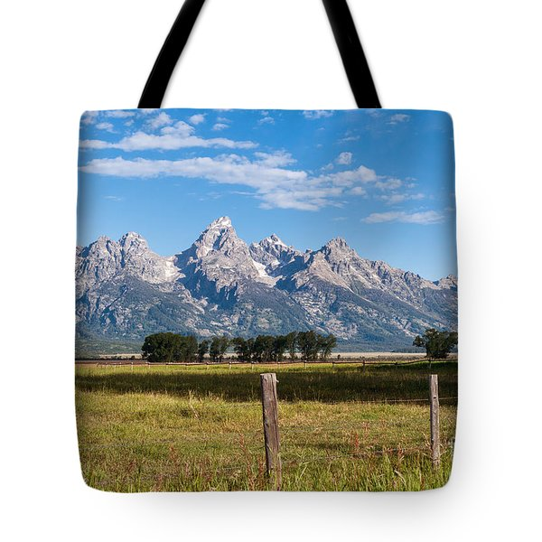Tetons From Mormon Row Tote Bag