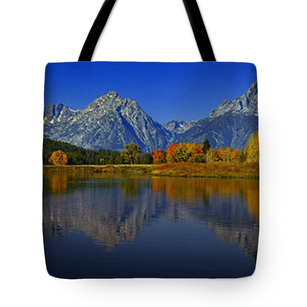 Tetons From Oxbow Bend Tote Bag