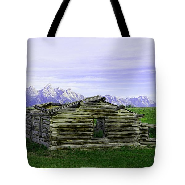Tetons From The Shane Barn Tote Bag