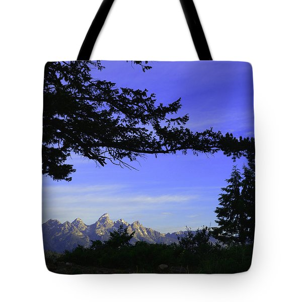 Tetons From The Wedding Trees Tote Bag
