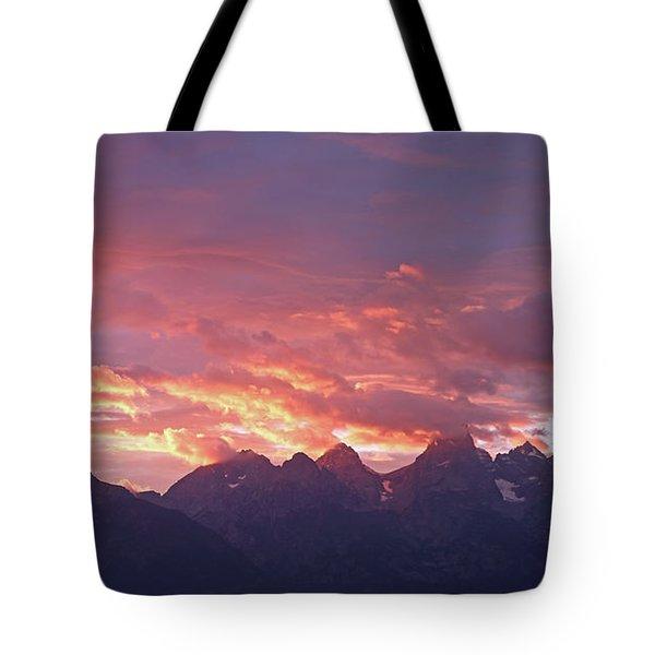 Tetons Sunset Tote Bag