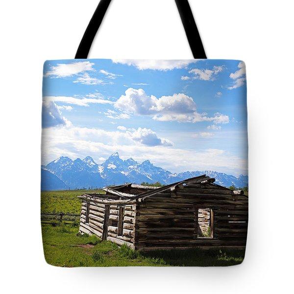 Tetons View Tote Bag