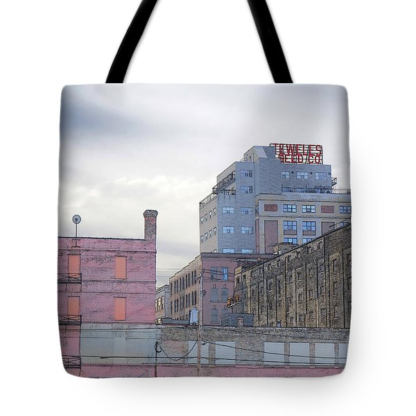 Tote Bag featuring the digital art Teweles Seed Co by David Blank
