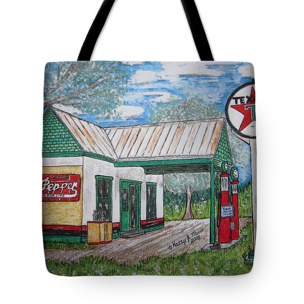 Texaco Gas Station Tote Bag