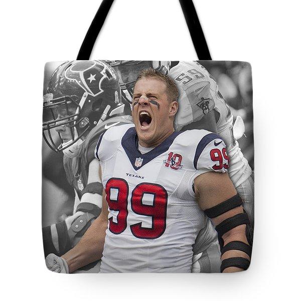 Texans Jj Watt Tote Bag