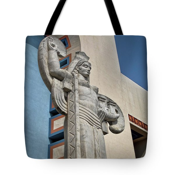 Tote Bag featuring the photograph Texas Art Deco Sculpture by David and Carol Kelly