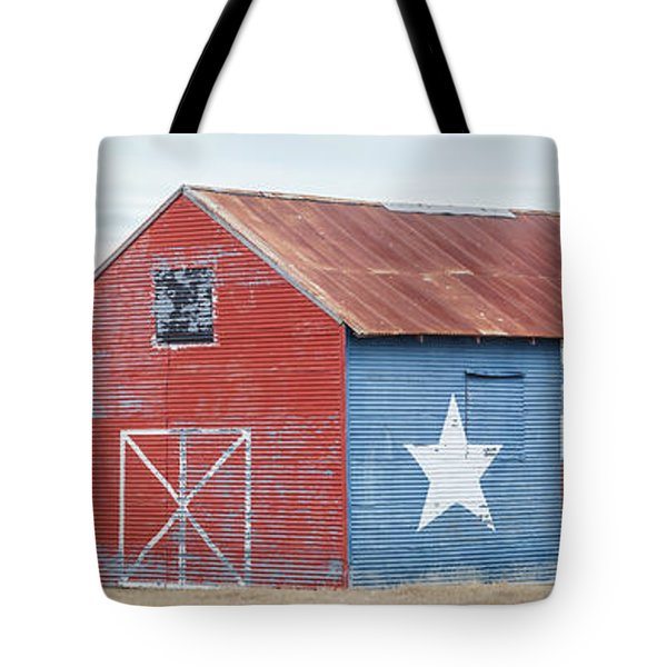 Texas Barn With Goats And Ram On The Side Tote Bag