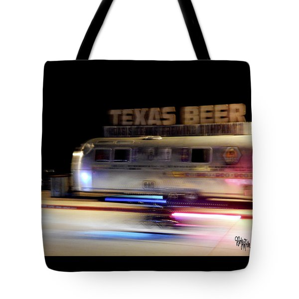 Texas Beer Fast Motorcycle #5594 Tote Bag