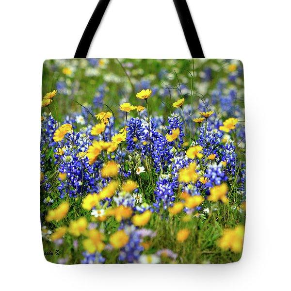 Texas Blue Bonnet  Tote Bag