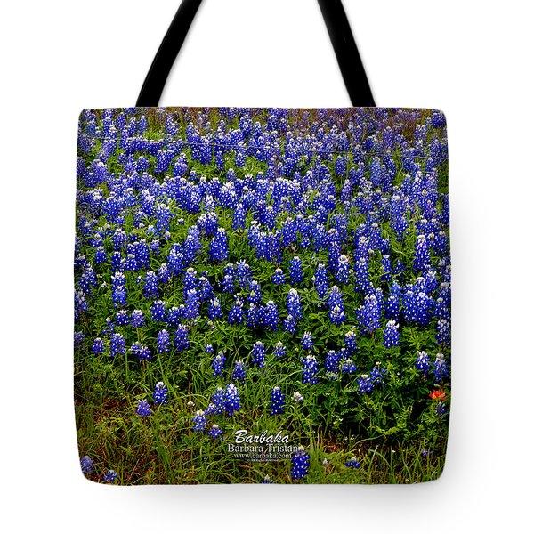 Texas Bluebonnets #0484 Tote Bag