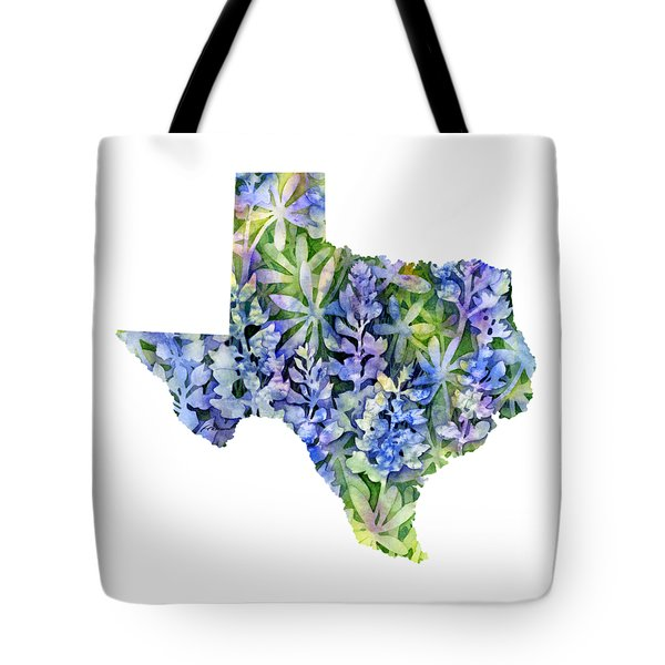Texas Blue Texas Map On White Tote Bag