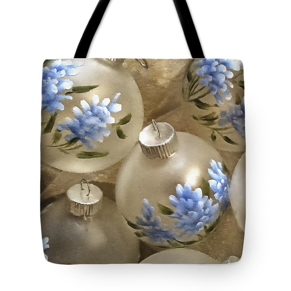 Texas Bluebonnet Ornaments Tote Bag