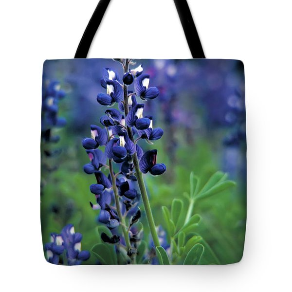 Tote Bag featuring the mixed media Texas Bluebonnet State Flower by Daniel Hagerman