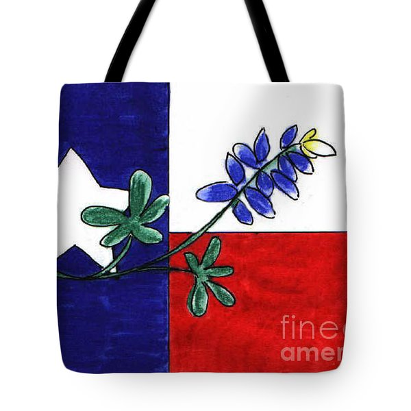 Texas Bluebonnet Tote Bag by Vonda Lawson-Rosa