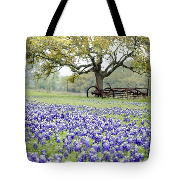 Texas Bluebonnets And Rust Tote Bag