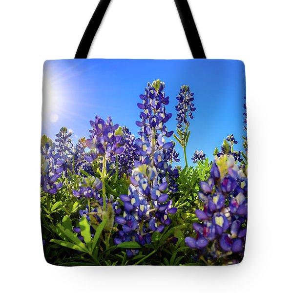 Texas Bluebonnets Backlit II Tote Bag