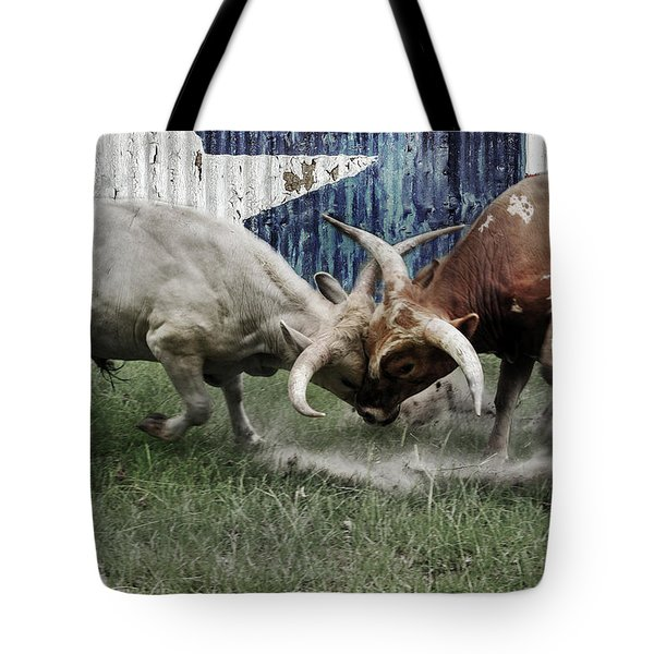 Texas Bull Fight  Tote Bag