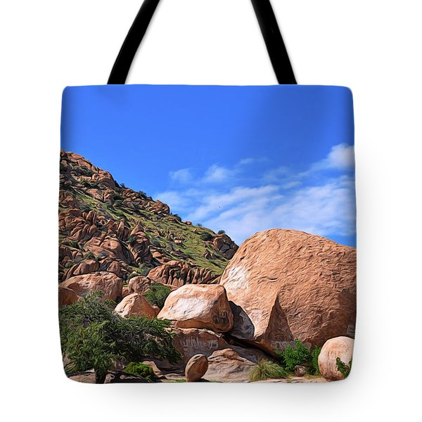 Tote Bag featuring the photograph Texas Canyon Arizona by Gina Savage