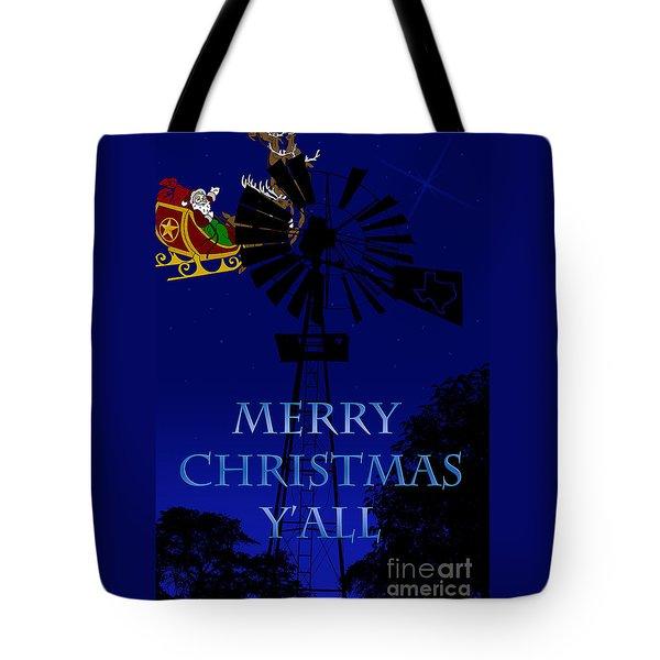 Texas Christmas Card Tote Bag