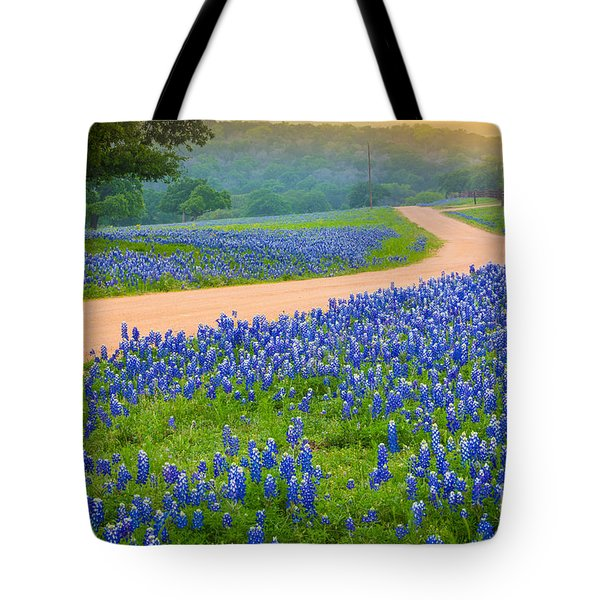 Texas Country Road Tote Bag