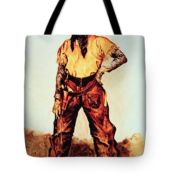 Texas Cowboy Tote Bag by Frederic Remington