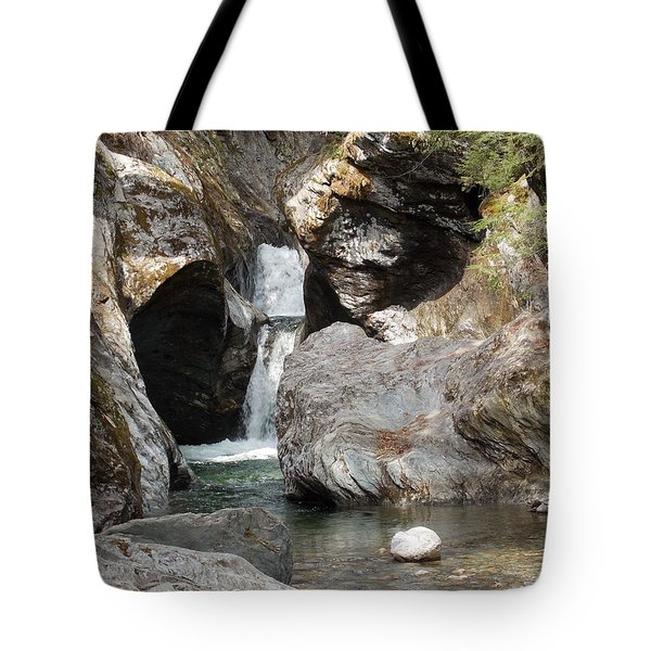 Texas Falls In Vermont Tote Bag
