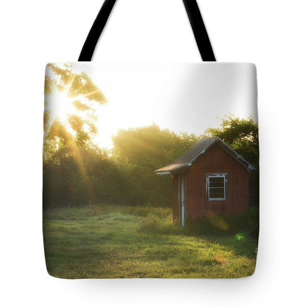 Tote Bag featuring the photograph Texas Farm by Vincent Bonafede