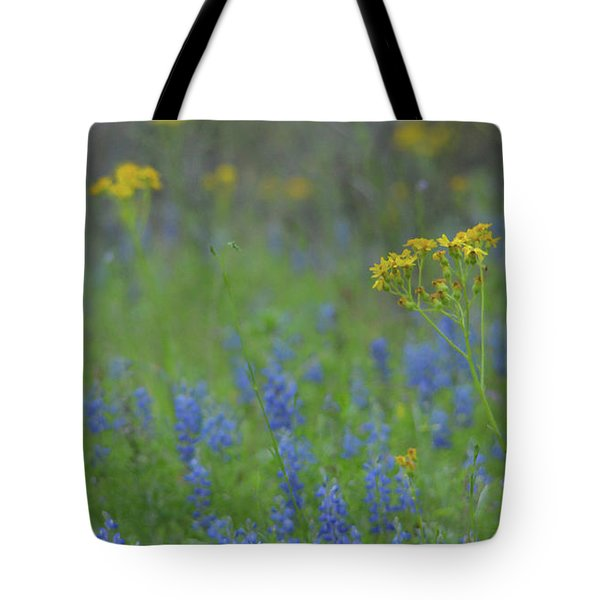 Texas Field With Blue Bonnets Tote Bag