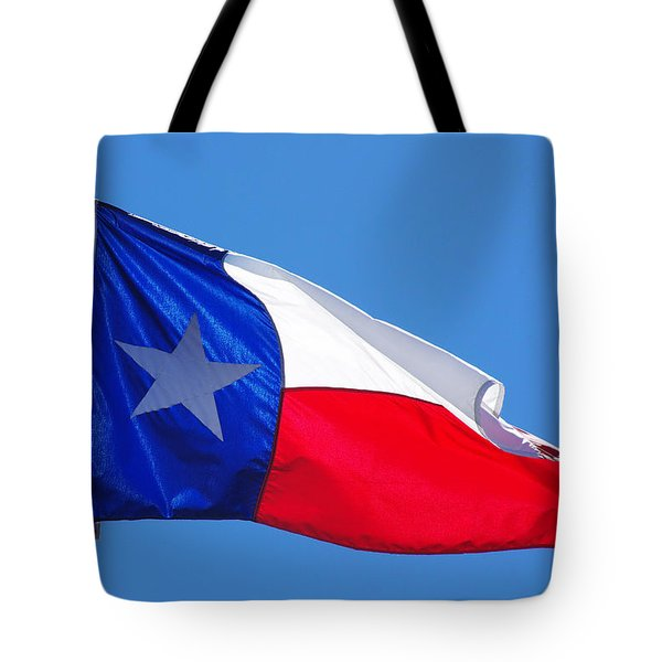 Tote Bag featuring the photograph Texas Flag by Gregg Cestaro