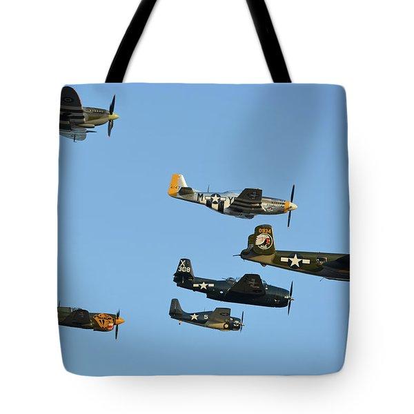 Texas Flying Legends Chino California April 29 2016 Tote Bag by Brian Lockett